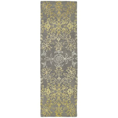 Paita Gray/Gold Area Rug Rug Size: Runner 26 x 8