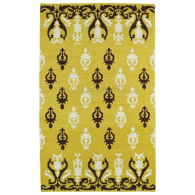 Saint-Philippo Yellow Area Rug Rug Size: Rectangle 36 x 56