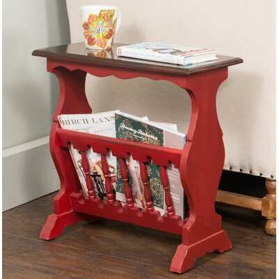 Mijares End Table Color: Red