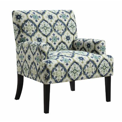 Wyatt Arm Chair Upholstery: Blue/Green/White