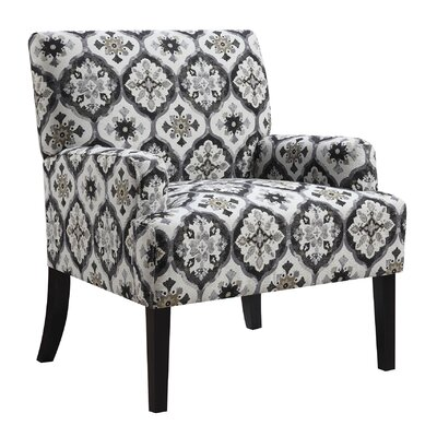 Wyatt Arm Chair Upholstery: Gray/Beige