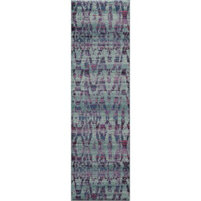 Denissa Ikat Blue Area Rug Rug Size: Rectangle 53 x 76