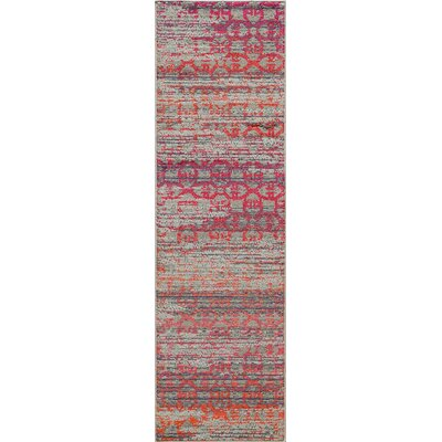 Denissa Orange Area Rug Rug Size: 53 x 76