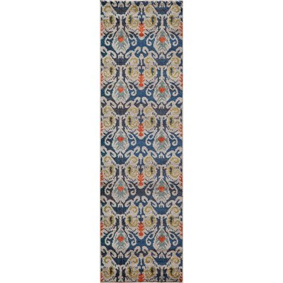 Denissa Navy Area Rug Rug Size: Runner 23 x 76