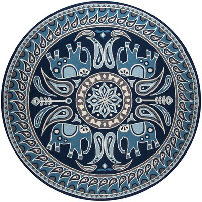 Almere Blue Indoor/Outdoor Area Rug Rug Size: 8 x 10