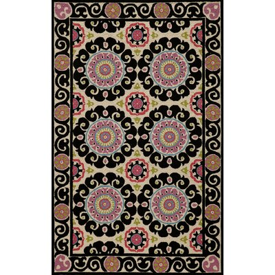 Roeser Black Area Rug Rug Size: Rectangle 36 x 56
