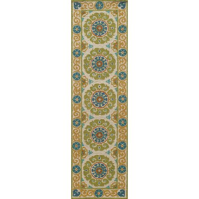 Roeser Lime Area Rug Rug Size: Runner 23 x 8