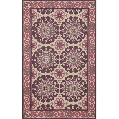 Roeser Purple Area Rug Rug Size: Rectangle 36 x 56