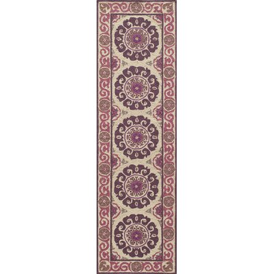 Roeser Purple Area Rug Rug Size: Runner 2'3