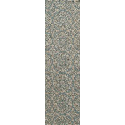 Roeser Blue Area Rug Rug Size: Runner 23 x 8