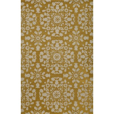 Roeser Gold Area Rug Rug Size: Rectangle 36 x 56