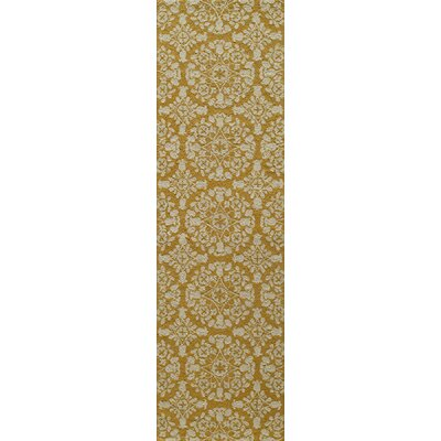 Roeser Gold Area Rug Rug Size: Runner 23 x 8