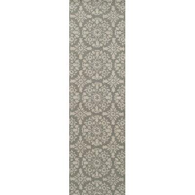 Roeser Gray Area Rug Rug Size: Runner 23 x 8