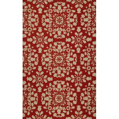 Roeser Red Area Rug Rug Size: Rectangle 36 x 56