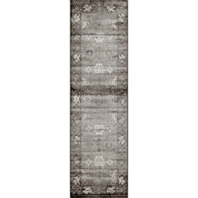 Hindeloopen Charcoal Area Rug Rug Size: Rectangle 18 x 27