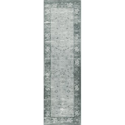 Hindeloopen Blue Area Rug Rug Size: Rectangle 18 x 27