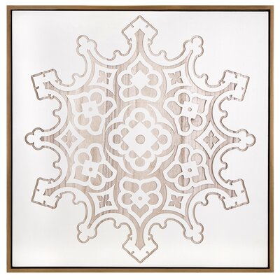 Bungalow Rose Snowflake Etched Wall Decor