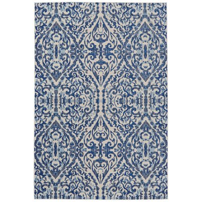 Dunellon Blue Area Rug Rug Size: Rectangle 102 x 139