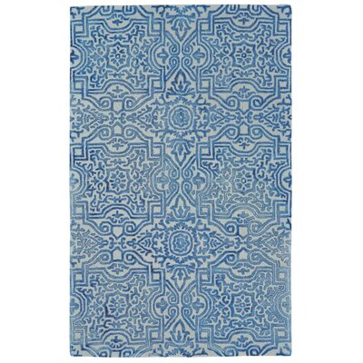 Etienne Hand Tufted Midnight Blue Area Rug Rug Size: 96 x 136