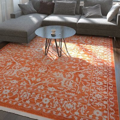 Wilton Terracotta Area Rug Rug Size: Square 4
