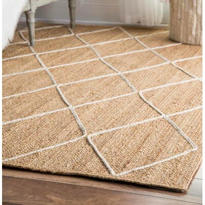 Quincy Hand-Woven Natural Area Rug Rug Size: Rectangle 10 x 14