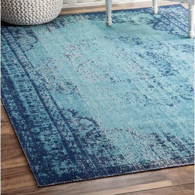 Azar Blue Area Rug Rug Size: Rectangle 5 x 75