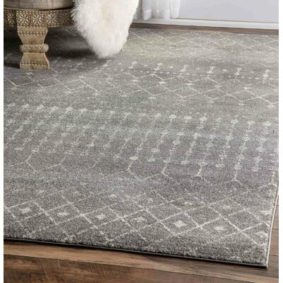 Clair Dark Gray Area Rug Rug Size: Rectangle 4 x 6