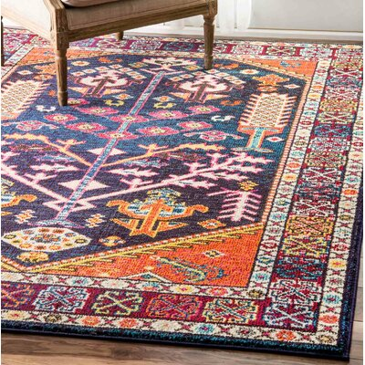Bendre Orange/Blue Area Rug