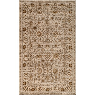 Hindeloopen Beige Area Rug Rug Size: Rectangle 18 x 27