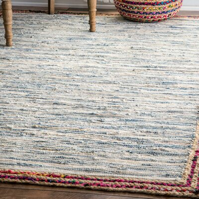 Suraiya Hand-Woven Blue Area Rug Rug Size: Rectangle 8 6 x 11 6