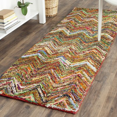 Sergio Hand-Tufted Multi Area Rug Rug Size: Runner 23 x 7