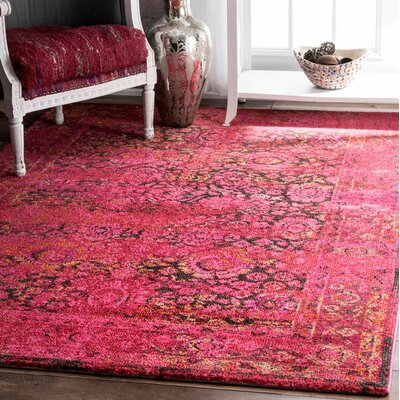 Ramgan Cherry Pink Area Rug Rug Size: Rectangle 3 x 5