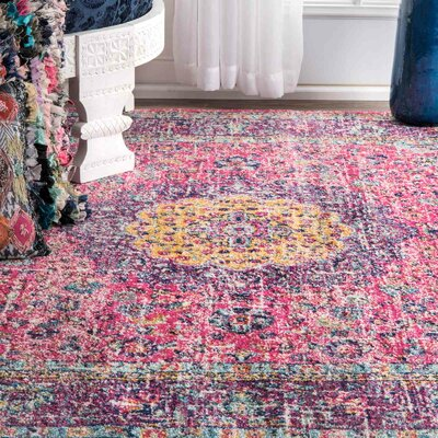 Darcia Pink/Purple Area Rug Rug Size: Rectangle 2 x 3
