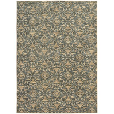 Arjun Beige/Blue Area Rug Rug Size: Rectangle 710 x 1010