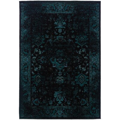 Raiden Navy/Brown Area Rug Rug Size: 710 x 1010