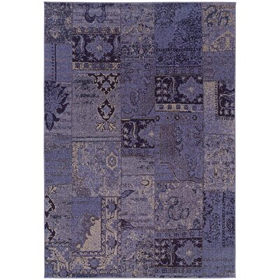 Raiden Multi-Colored Patchwork Area Rug Rug Size: 53 x 76
