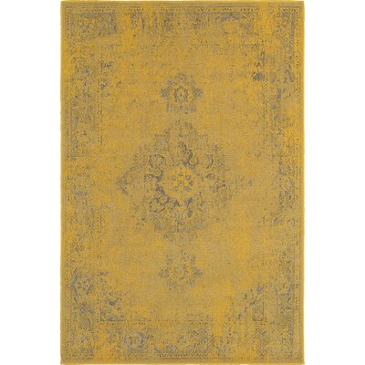 Raiden Yellow/Gray Area Rug Rug Size: Rectangle 53 x 76