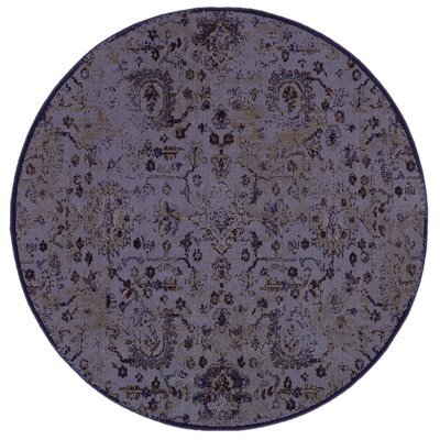 Raiden Purple/Beige Area Rug Rug Size: 310 x 55
