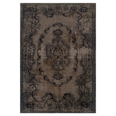 Raiden Persian Brown/Black Area Rug Rug Size: 3'10