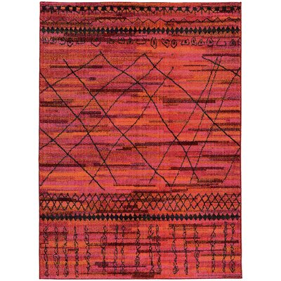 Marquis Orange Area Rug Rug Size: 53 x 76