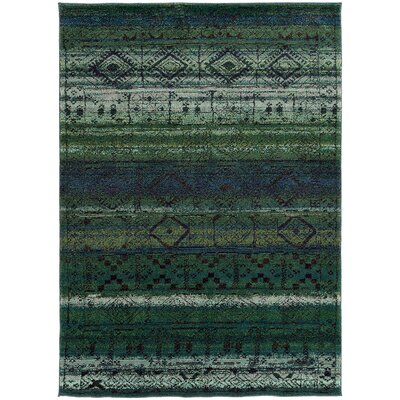 Marquis Green/Blue Area Rug Rug Size: Rectangle 4 x 59
