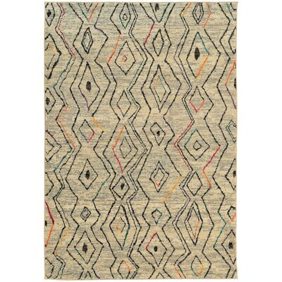 Marquis Beige Area Rug Rug Size: Rectangle 53 x 76