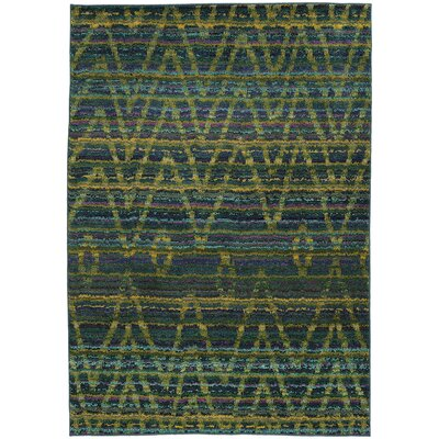 Marquis Green/Blue Area Rug Rug Size: Runner 27 x 10