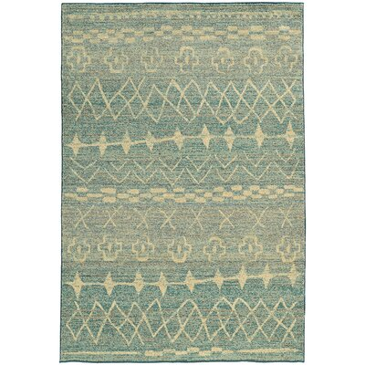 Marquis Blue/Beige Area Rug Rug Size: Rectangle 53 x 76