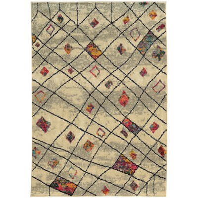 Marquis Ivory Area Rug Rug Size: Rectangle 67 x 91