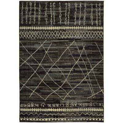 Marquis Black/Beige Area Rug Rug Size: Rectangle 53 x 76