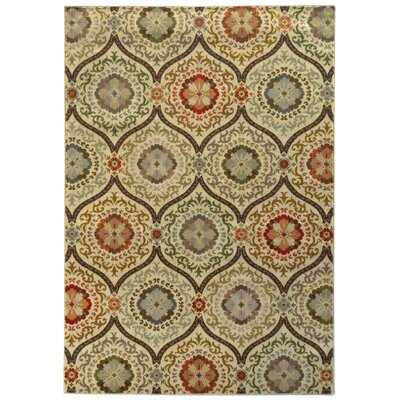 Sincere Beige/Blue Area Rug Rug Size: Runner 11 x 76