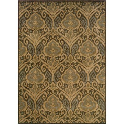 Sincere Green/Ivory Area Rug Rug Size: Runner 11 x 76