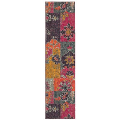 Terrell Floral Ikat Multi/Pink Area Rug Rug Size: Runner 27 x 10