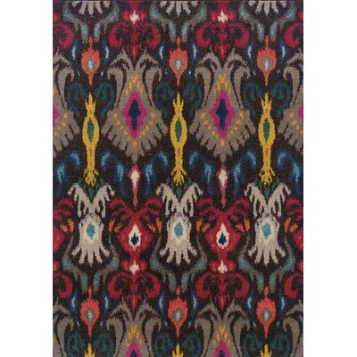 Terrell Tribal Ikat Grey/Multi Area Rug Rug Size: Rectangle 67 x 91
